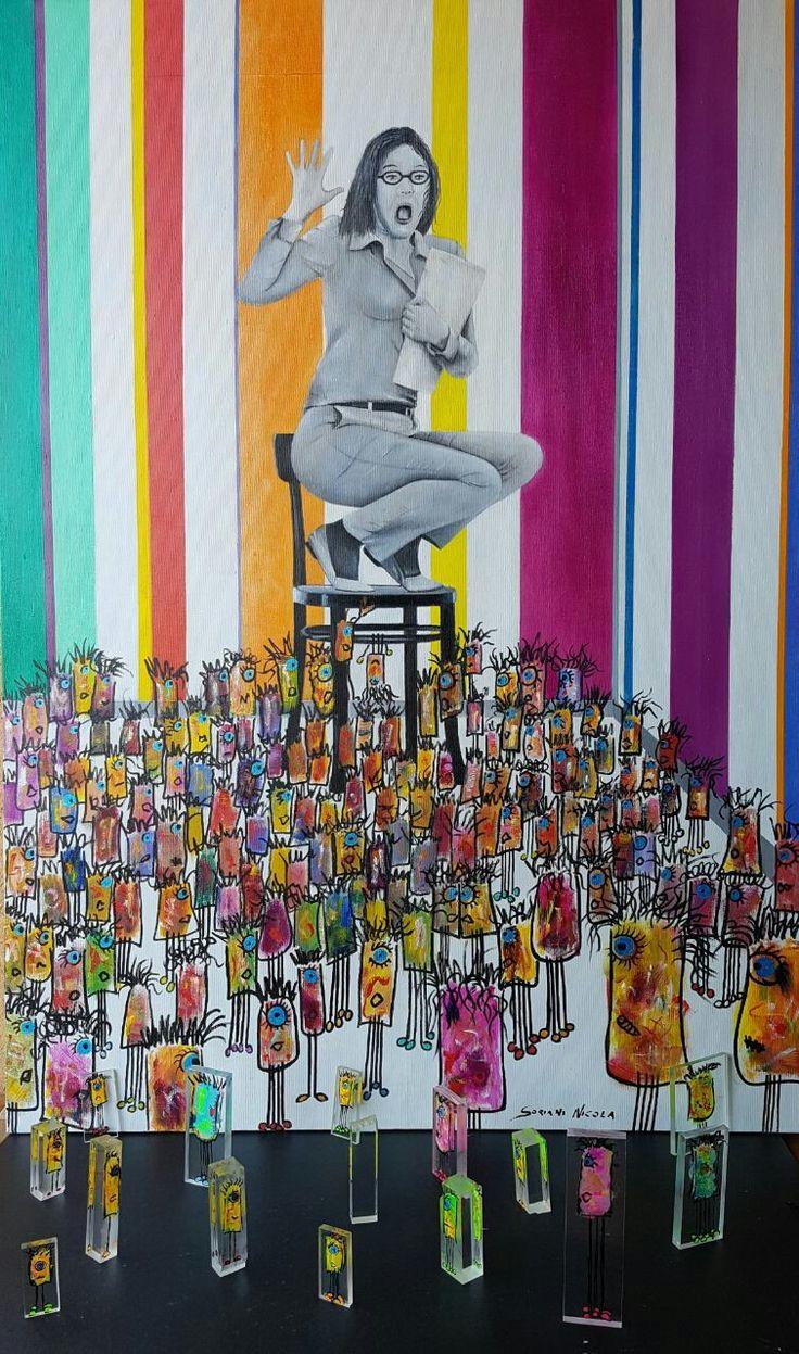 Autore, NICOLA SORIANI.  Titolo,         . Anno, 2017.  Tecnica mista su tela. Dimensioni,  cm 80 x cm 110.  Serie REALFANTASY