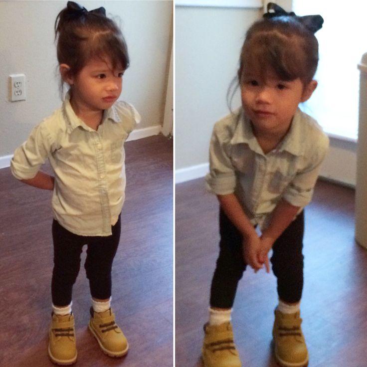 Too cute! #toddlerfashion #boots #timberland #kids #kidsfashion #outfitideas