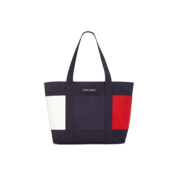 Tommy Hilfiger Th Flag Extra-Large Tote (€46) ❤ liked on Polyvore featuring bags, handbags, tote bags, canvas tote purse, tote handbags, white tote bag, canvas tote bag and white purse