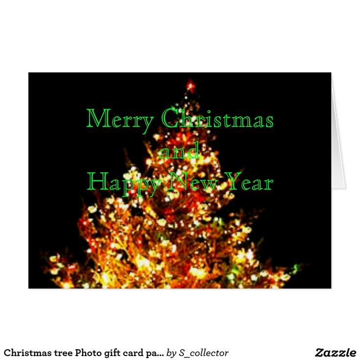 Christmas tree Photo gift card part 1