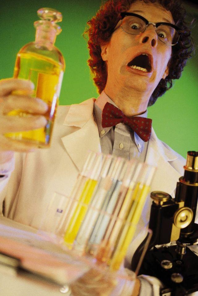 handgemachtes kostüm idee lustig verrückter wissenschaftler