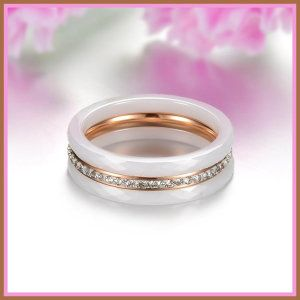 Aries Elegant White Ceramic 3-Circle Rose Gold Plated Stainless Steel w/ Rhinestones http://theceramicchefknives.com/womans-ceramic-wedding-rings/ This is the best way to express your promise with these stainless steel and ceramic wedding bands. Aries Elegant White Ceramic 3-Circle Rose Gold Plated