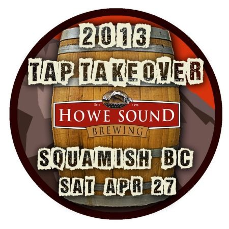 Howe Sound Brewing to Host Multi-Brewery B.C. Craft Beer Tap Takeover - April 27, 2013