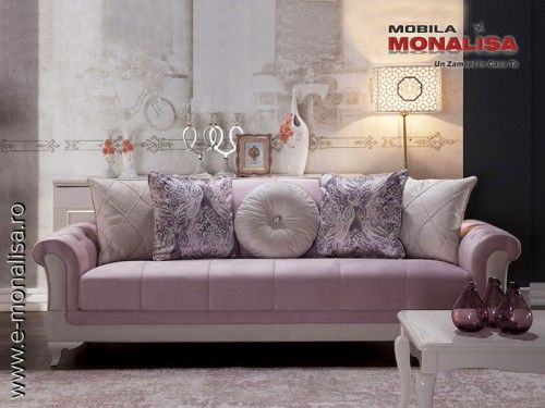 Canapea Clasica Extensibila.Canapele Elegante Roz Sementa Sementa Este Un Model Nou De Canapea