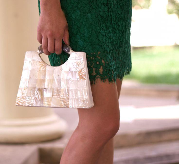 bag, pearls, hanbag, jewellery, accessory, lace, dress