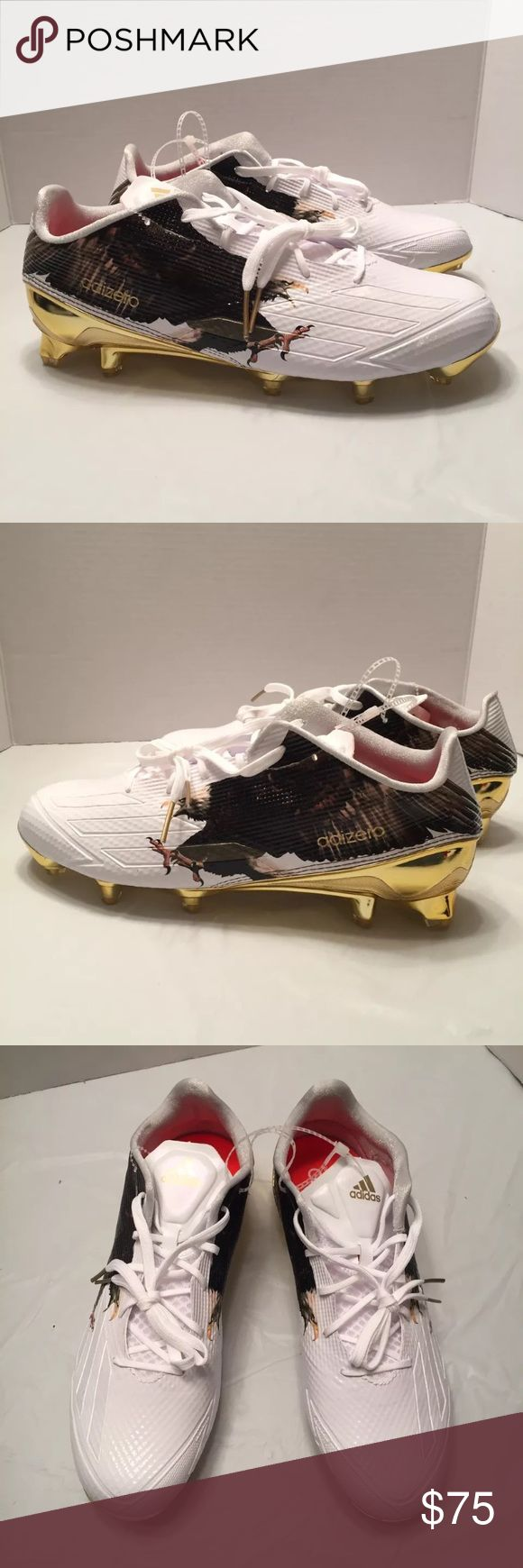 Adidas Adizero Size 10 Football Cleats Eagle White Adidas Adizero Men Size 10 Football Cleats Eagle White Gold Black Shoes B49350 New without Box Gold, white and black with eagle Size 10 114278750 adidas Shoes Athletic Shoes