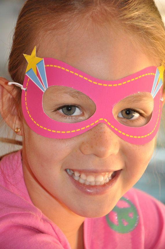 Super Girl Super Heroes party pdf printable by GlitterInkDesigns