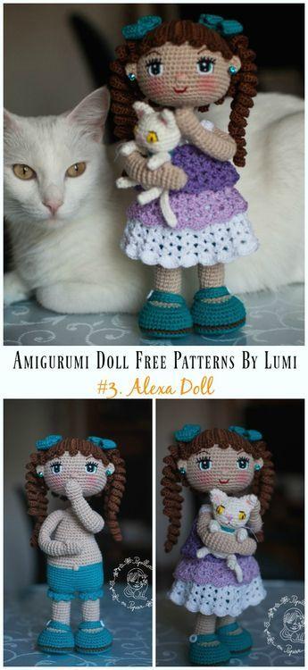 Amigurumi Doll Softies Crochet Livre Padrões Por Lumi [Papillon En Papier]