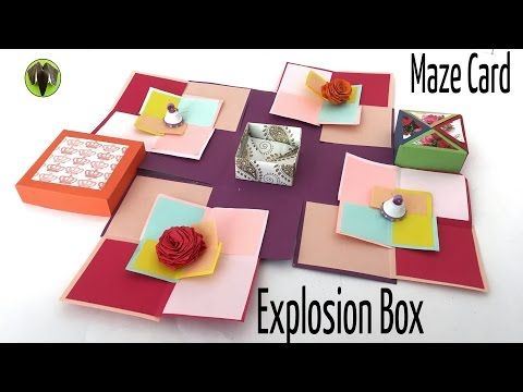 """How to make a """"Square Circular Popup greeting card"""" - Paper craft Tutorial - YouTube"""