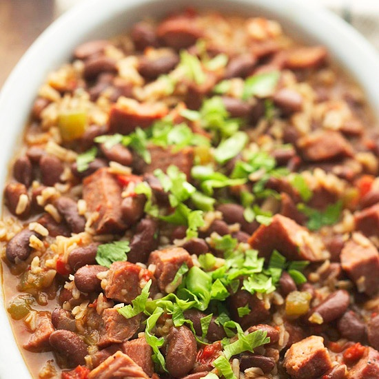Red Beans & Rice with Andouille & Ham: Dinner, Cooker Recipes, Crock Pot, Red Beans, Crockpot, Slowcooker, Him, Cooker Red