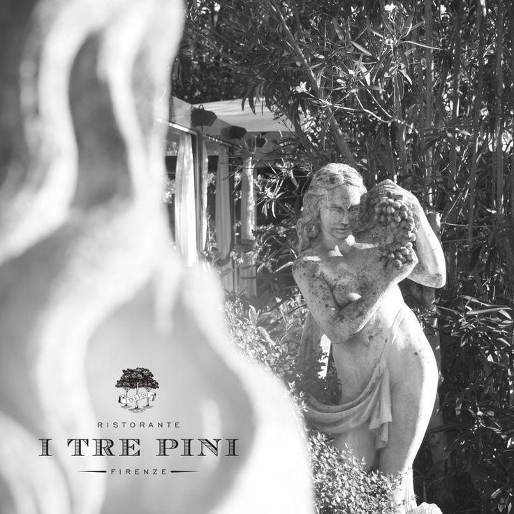 Statues in Tuscany.... Ristorante I Tre Pini Firenze