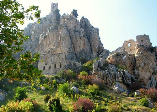 St. Hilarion Castle on the Kyrenia mountain range, North Cyprus