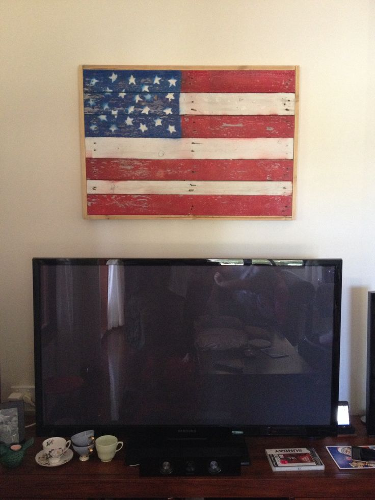 Unique AMERICAN FLAG WALL ART DIY  The Girls With Glasses