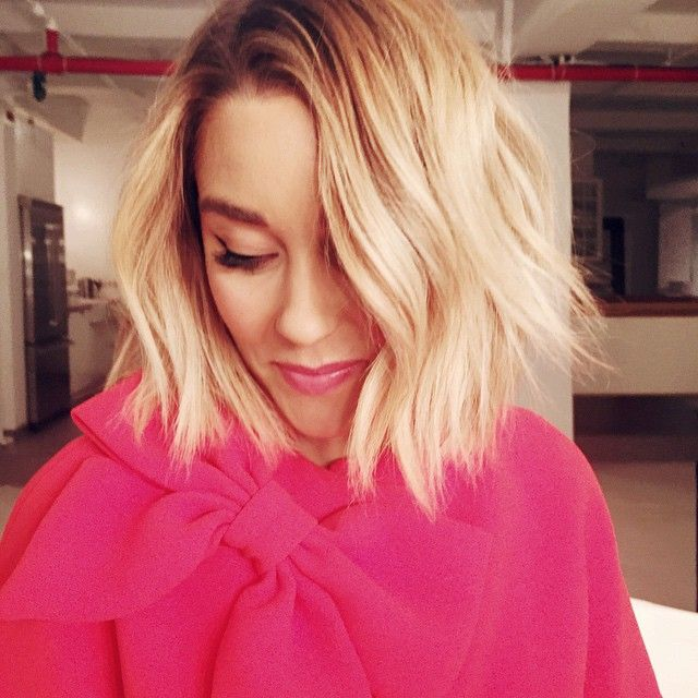Lauren's hair is beachy fun!  If I cut mine again, this will be it!  Choppy layers that is not the same old bob.