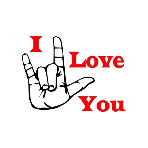 Download ASL I Love You (SVG, JPG, Digital Download) | Love you, I ...
