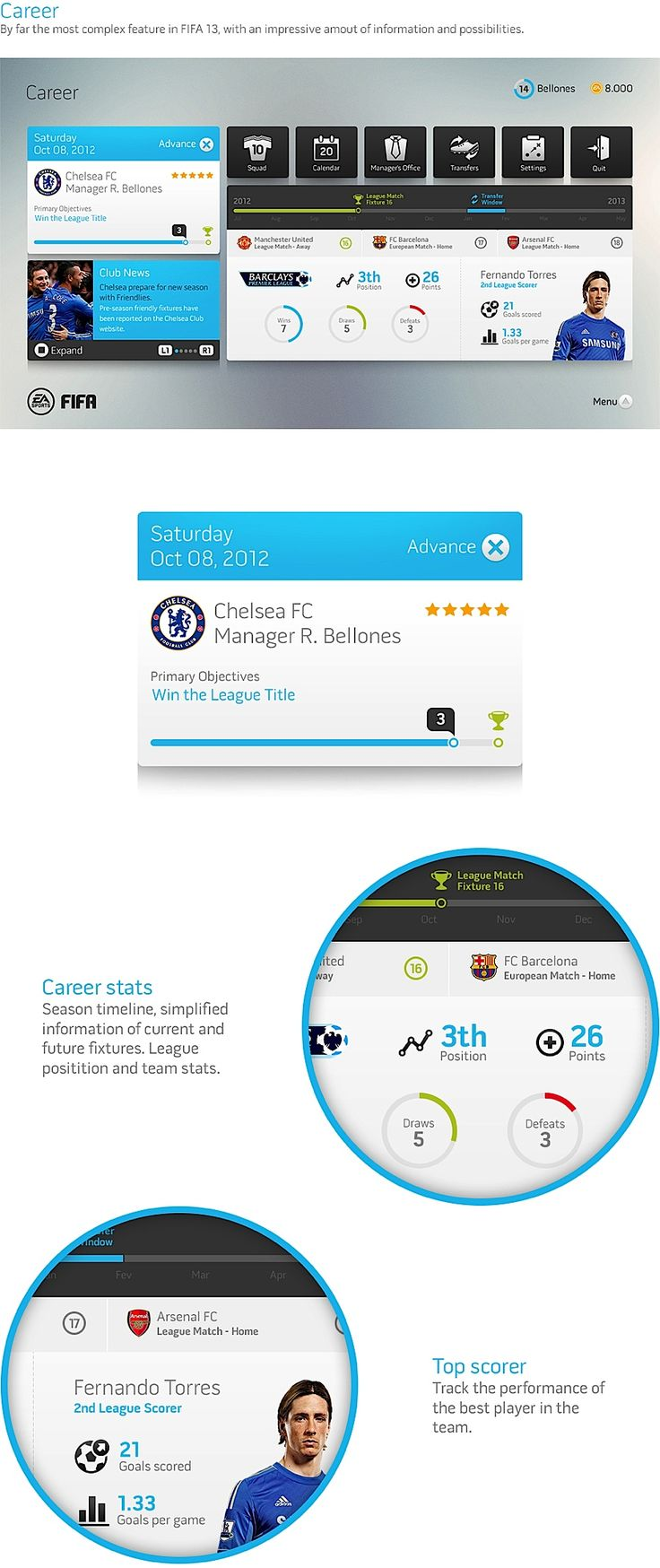 Design Concept: FIFA Game Interface   Awesome   Ux design or Ui design   Pinterest   Game ...
