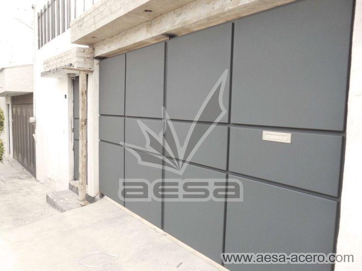Porton de herrería color gris oxford Mod. PR592. Visita www.aesa-acero.com para mayor información, cotizar y mas modelos.