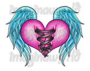 40 best broken heart with wings tattoo images on pinterest wing rh pinterest com pictures of hearts with wings to color pictures of hearts with wings tattoos