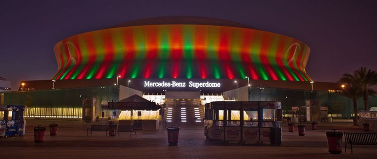 Mercedes-Benz Superdome:    The Mercedes-Benz Superdome is a stadium for exhibition and sports situated in the Central Business District of New Orleans. It was previously named as the Louisina Superdome and commonly referred to as The Superdome.