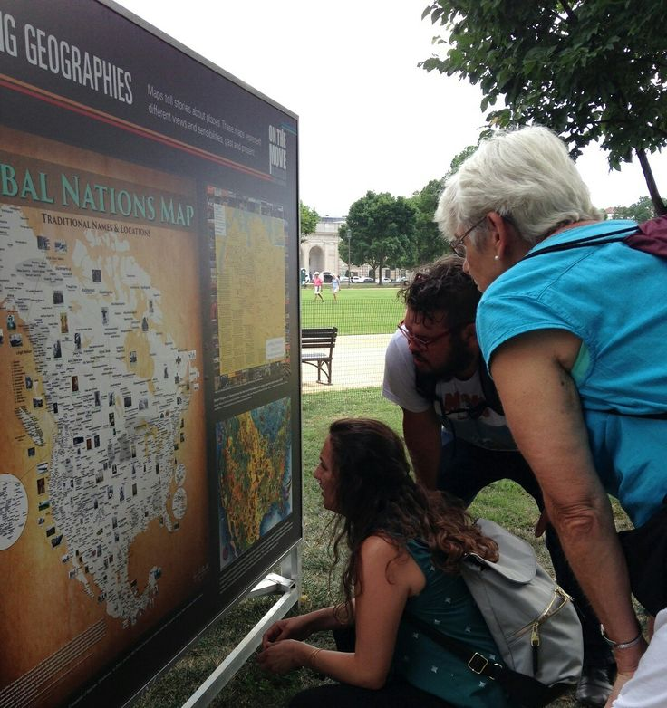 Tribal Nations Maps on display outside the