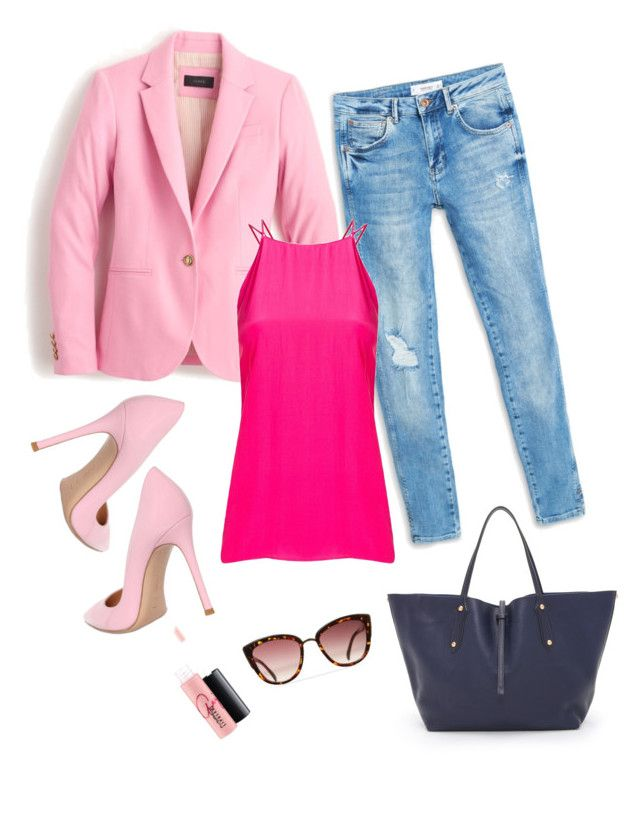 """Outfit box: spring"" by risha69 on Polyvore featuring Annabel Ingall, MANGO, J.Crew, Giuliana Romanno, Gianvito Rossi, MAC Cosmetics, women's clothing, women, female and woman"