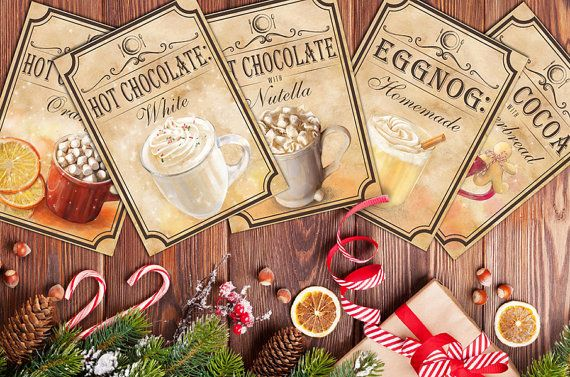 Best hot cocoa chocolate recipe Holiday by BlueberryDreamDesign