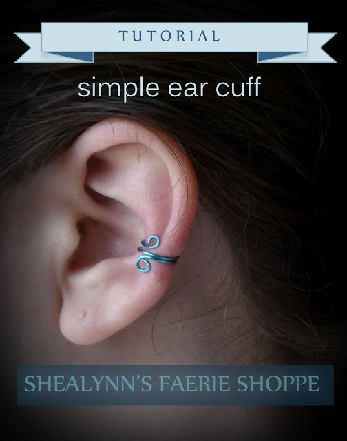simple ear cuff, I love this DIY Blog this lady is amazing