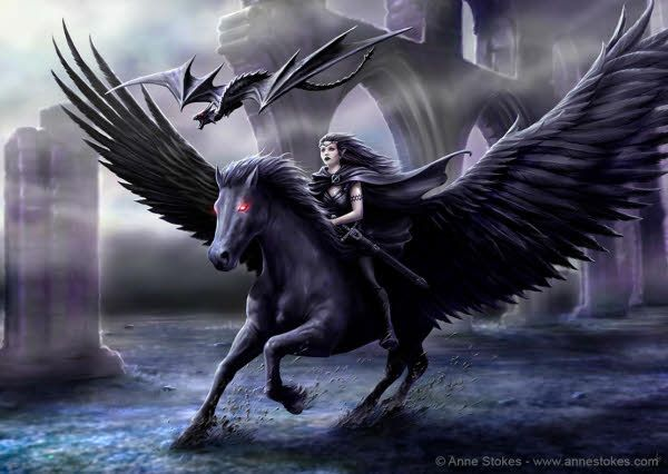 """Realm of Darkness"" by Anne Stokes"