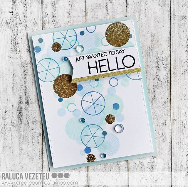 Here is another card for the @createasmilestamps release. I used the Going Graphic stamp set and the Just saying hello set. I added some glitter gold heat embossed circles! ( I'll add a closer photo with the details) #cardmaking #handmade #handmadecards #handmadecard #diy #diycard #papercrafting #papercrafts #crafting #crafts #cascard #cas_only_cas #cleanandsimple #stamping #createasmilestamps #createasmile  #prettypinkposh  #bluemint #wowembossing #goldembossing #embossing