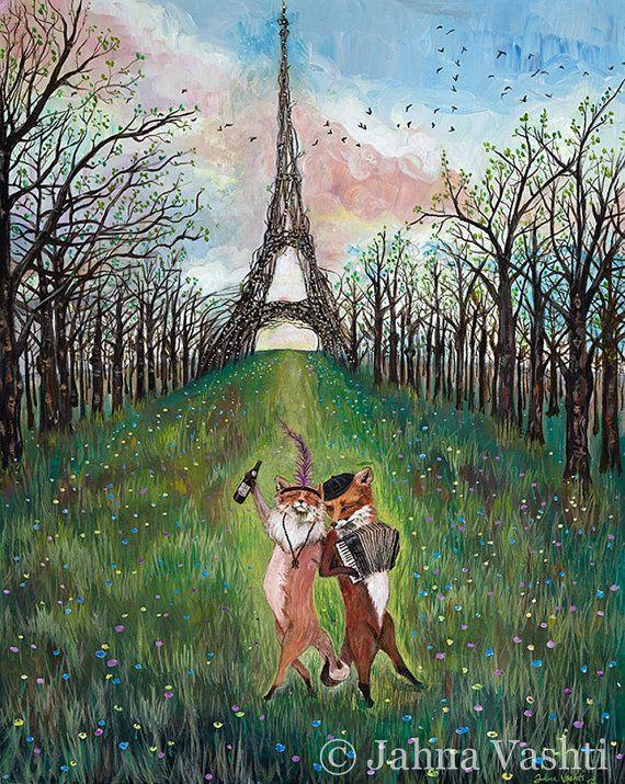 11 x 14-Print Je Ne Sais Quoi Französisch Füchse von JahnaVashti