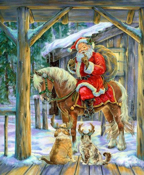 Новогодние иллюстрации художника Donna Race