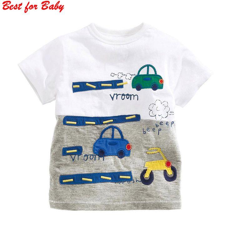Anak-anak Anak-anak Grils anak laki-laki t-shirt Bayi Pakaian anak Kecil Musim Panas kemeja Tees Designer Cotton Kartun untuk 1-6Y