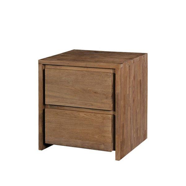 Тумба из массива тика для стола Fisa с двумя вместительными ящиками.             Материал: Дерево.              Бренд: Teak House.              Стили: Скандинавский и минимализм.              Цвета: Коричневый.