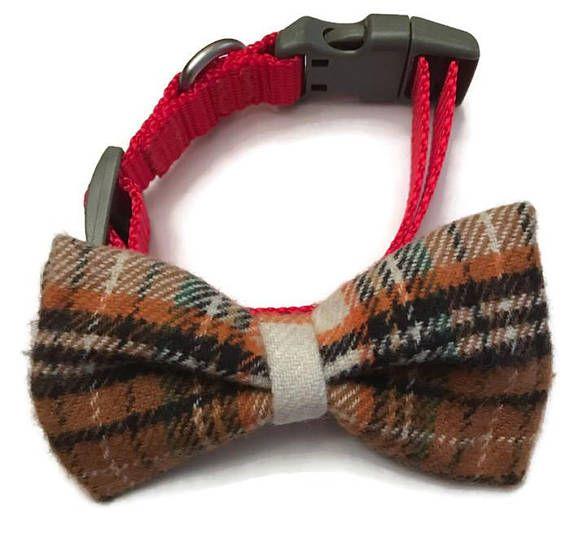 Dog collar bow tie plaid dog bow tie dapper dog preppy dog