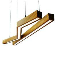 Drewniane lampy wiszące z serii Woodline, modele Square i Square Z, LAMPEKO - od 970 zł/szt.