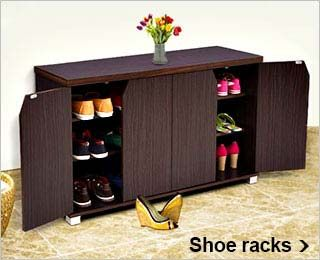 Fab Home Newport Shoe Rack With Drawer