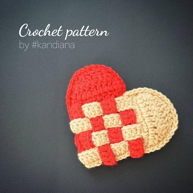 Crochet heart pattern. Skill level: beginner 💙 More photos by link in bio 💙