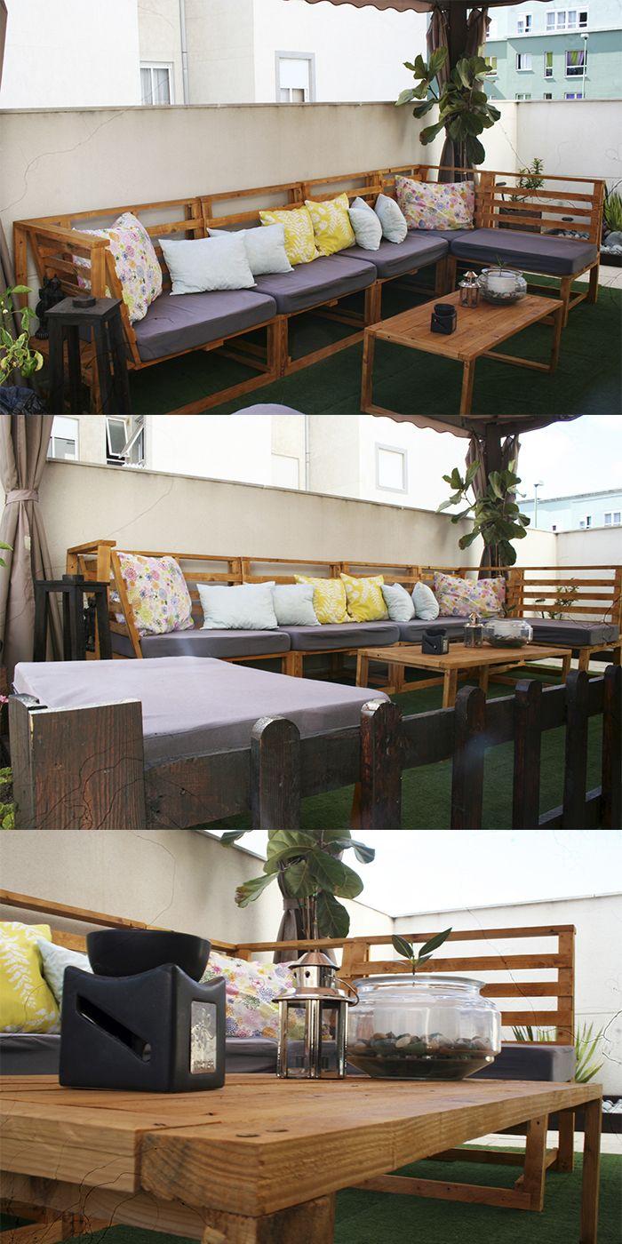 Conjunto terraza modular palets palet pallet recycle for Conjunto terraza