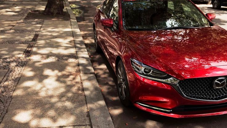Mazda 6 2018 unveil from the Los Angeles Auto Show the Mazda 6 2018 gets a new turbo engine the Mazda 6 2018 gets some updates from the inside the Mazda 6 2018 gets a new gets a new grille with new mazda 6 2018 LED frot lights