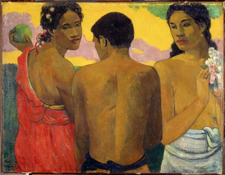 Paul Gauguin, Tre tahitianere, 1899, olie på lærred, 73 x 94 cm., National Galleries of Scotland