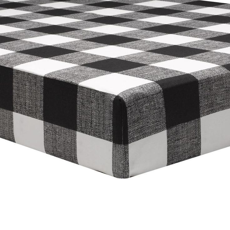 Buffalo Check (Black and White) Crib Sheet - Perfect for your Black and White Gender Neutral Nursery