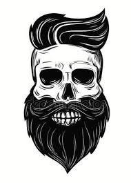 Resultado de imagem para caveira mexicana com barba vetor