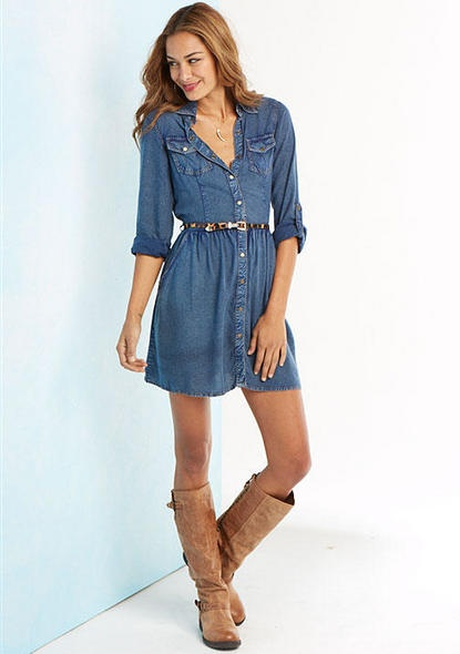 New jeans shirt style dress