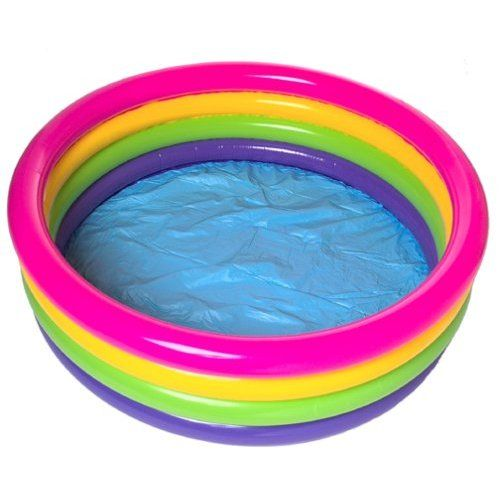 Emergency prepardness - You can use a blow up pool to warm water and take a bath