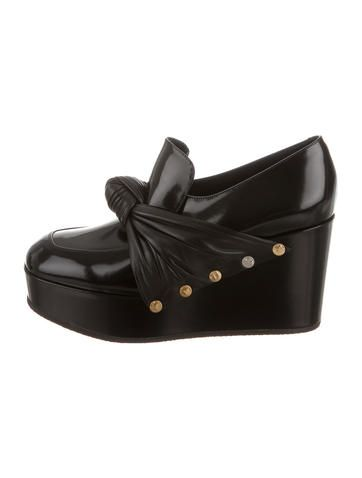 Céline Bow Wedge Loafers w/ Tags