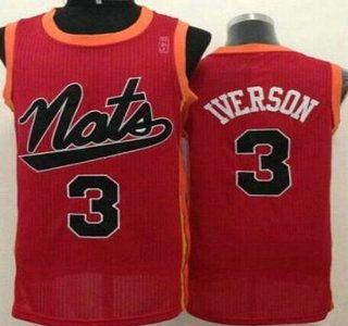 ... Swingman Philadelphia 76ers Jersey 3 Allen Iverson Red Revolution 30  Authentic Nats Jerseys ... 49081a600