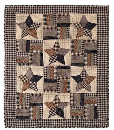 Bingham Star Quilted Throw Perfect for those extra chilly nights or snuggling on the couch with the family. Our 100% cotton quilted throw measures 50x60