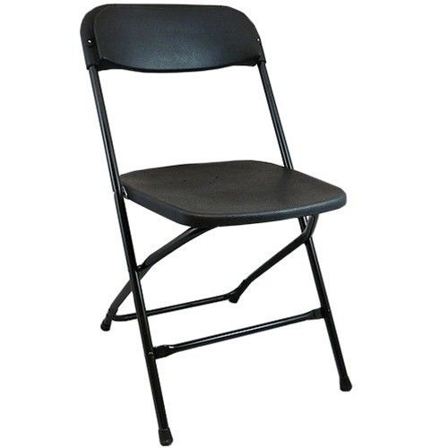 Black plastic folding chairs and foldable chairs at CTC Event Furniture. Call (855) 272-0992 today for low prices and friendly service!