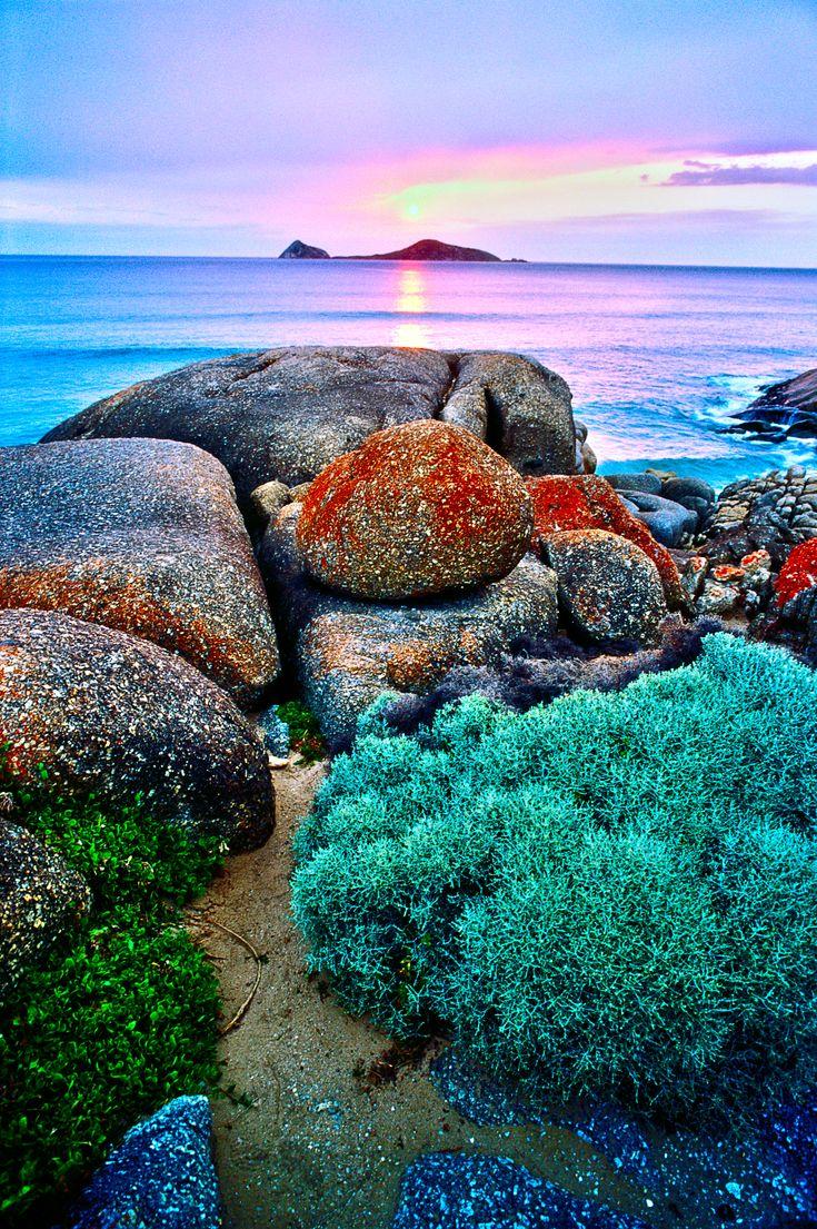 Colorful Rocks at Wilson's Promontory National Park.  Great Ocean Road, Australia