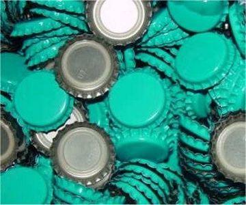 Make handmade jewelry from flattened bottle caps. - See how to flatten bottle caps:)
